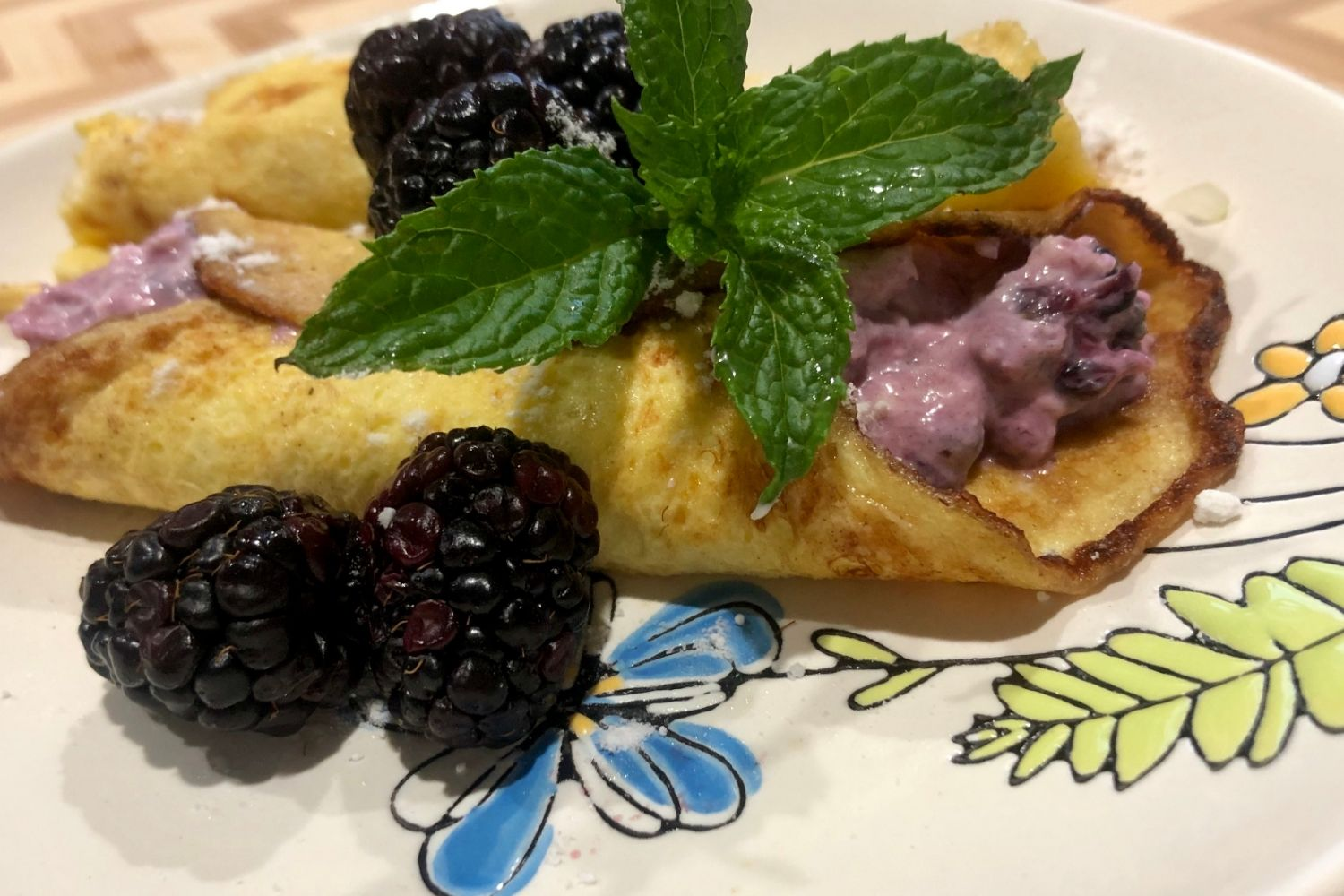 blackberry Crepes